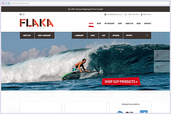 Flakasurfing store screenshot